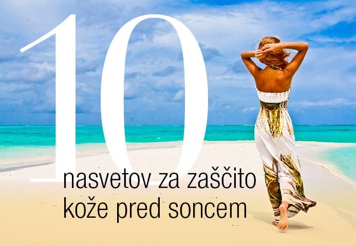 10 nasvetov za zaščito pred soncem