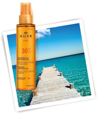 Olje za zaščito kože pred soncem za čudovit ten, visoka zaščita, SPF 30