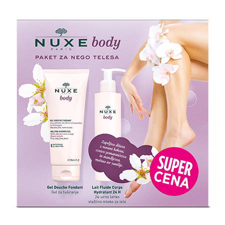 NUXE Body Gel za prhanje in NUXE Body 24-urno lahko vlažilno mleko